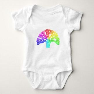 Arco iris del árbol de Oakland Playera