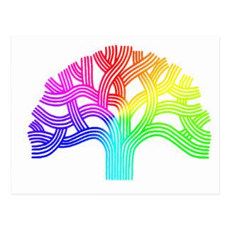 Arco iris del árbol de Oakland Postales