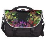 Arco iris del arte del fractal de los colores bolsas de portatil