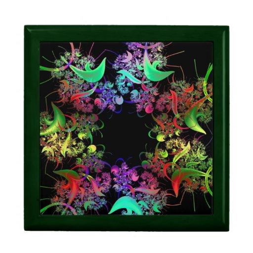 Arco iris del arte del fractal de los colores caja de recuerdo