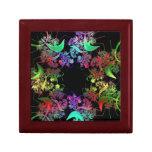 Arco iris del arte del fractal de los colores caja de regalo