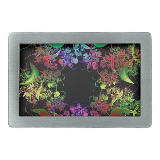 Arco iris del arte del fractal de los colores hebillas de cinturón