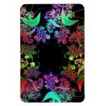 Arco iris del arte del fractal de los colores imanes rectangulares