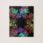 Arco iris del arte del fractal de los colores puzzles