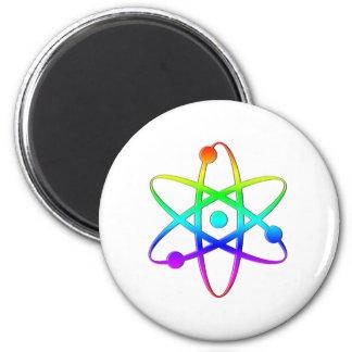 arco iris del átomo imán redondo 5 cm