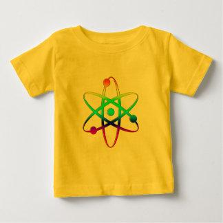 arco iris del átomo playera para bebé