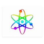 arco iris del átomo postal