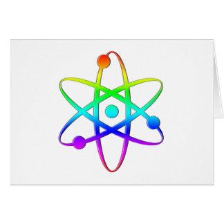 arco iris del átomo tarjeton