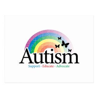 Arco iris del autismo postal