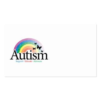 Arco iris del autismo tarjetas de visita