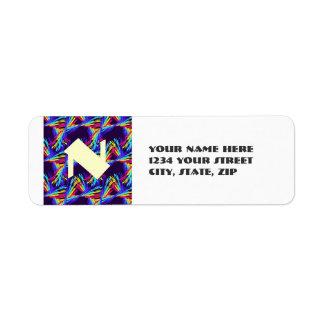Arco iris del baile de encargo etiqueta de remitente