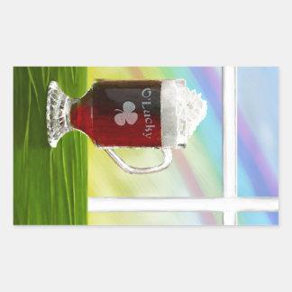 Arco iris del café irlandés - día de fiesta - pegatina rectangular