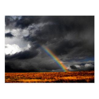 Arco iris del desierto tarjeta postal