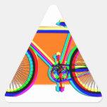 Arco iris del destino del amigo de la familia del  calcomanía trianguloada