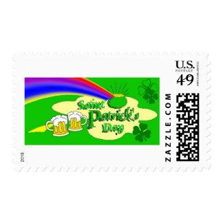 Arco iris del día de San Patricio Timbres Postales