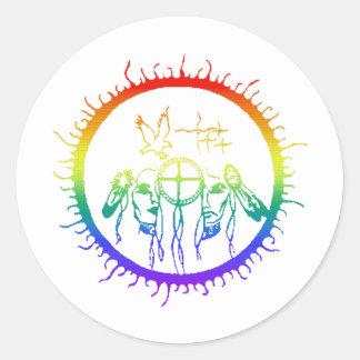 Arco iris del Dos-Alcohol Etiquetas Redondas
