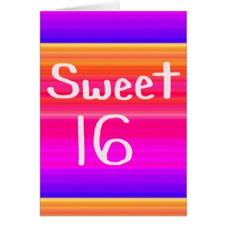 Arco iris del dulce 16 tarjeta de felicitación
