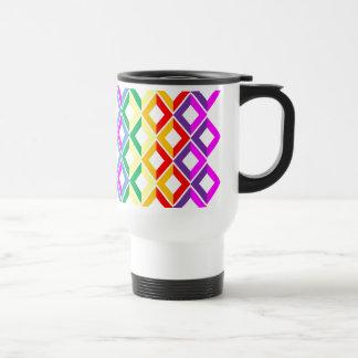 Arco iris del enrejado taza de viaje