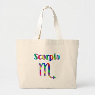 Arco iris del escorpión bolsas de mano