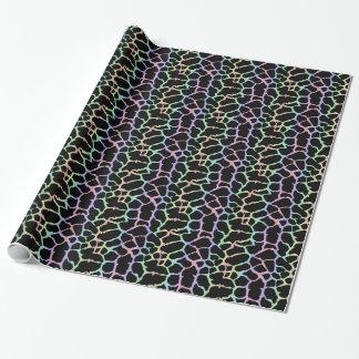 Arco iris del estampado de animales de la jirafa y papel de regalo