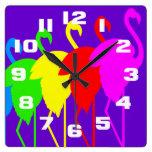 Arco iris del flamenco relojes