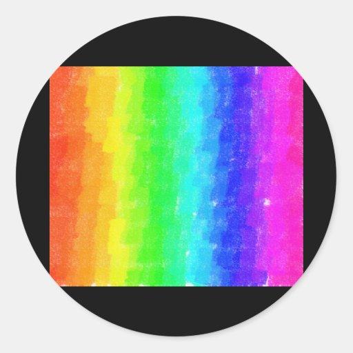 Arco iris del fresco pegatina redonda