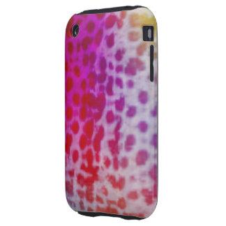 Arco iris del guepardo tough iPhone 3 carcasa