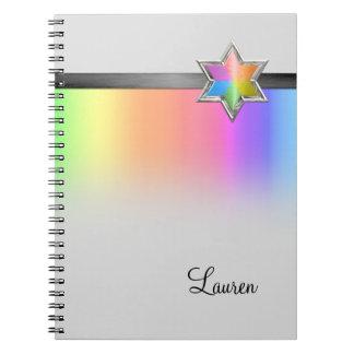 Arco iris del Guestbook y estrella negra de la Libreta