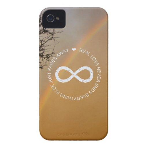 Arco iris del infinito del amor iPhone 4 carcasa