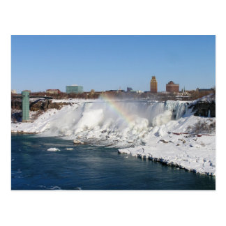 Arco iris del invierno Amercian baja postal