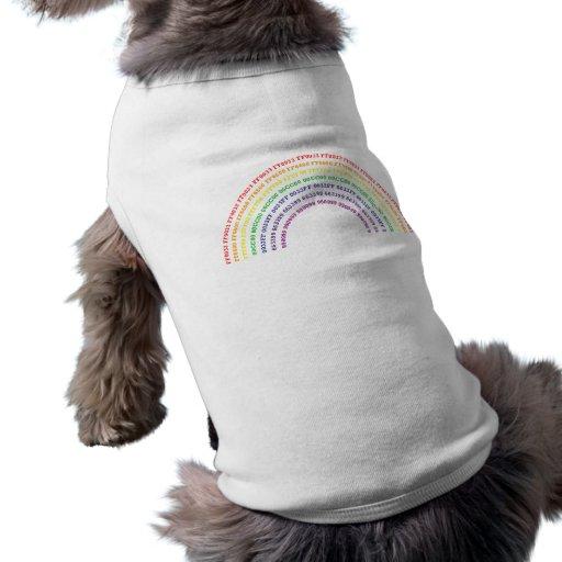 Arco iris del maleficio camisetas de perro