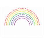 Arco iris del maleficio postales