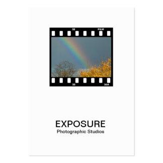 arco iris del marco de película de 35m m 02 - blan plantilla de tarjeta personal