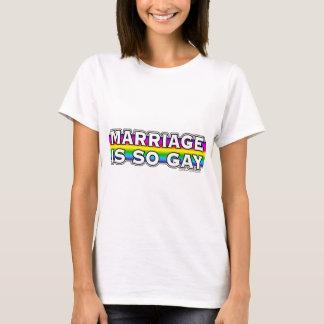 Arco iris del matrimonio homosexual playera