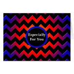 Arco iris del monograma de Chevron de los colores Felicitación