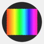 Arco iris del mosaico pegatina redonda