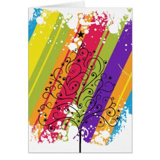Arco iris del navidad tarjeta de felicitación
