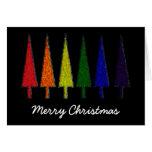 Arco iris del navidad tarjeton
