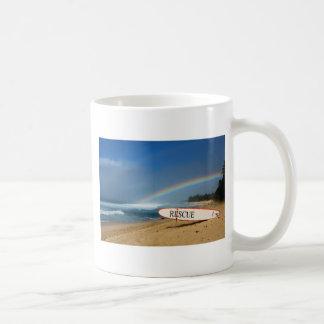 Arco iris del norte de la orilla taza de café