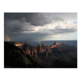 Arco iris del norte del borde del Gran Cañón Tarjetas Postales