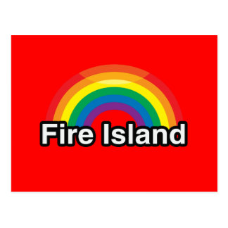 ARCO IRIS DEL ORGULLO DE LA ISLA LGBT DEL FUEGO POSTAL