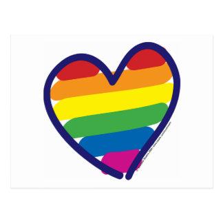 Arco iris del orgullo de la tarjeta del día de San Tarjetas Postales