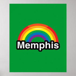 ARCO IRIS DEL ORGULLO DE MEMPHIS LGBT POSTER
