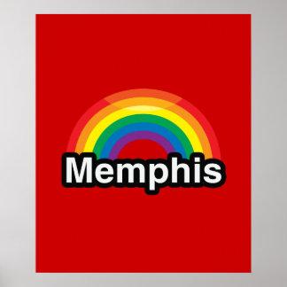 ARCO IRIS DEL ORGULLO DE MEMPHIS LGBT POSTERS