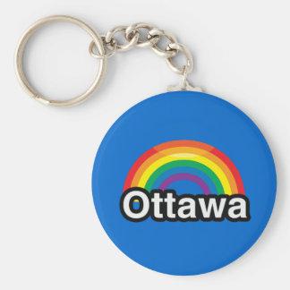 ARCO IRIS DEL ORGULLO DE OTTAWA LGBT LLAVEROS