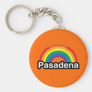 ARCO IRIS DEL ORGULLO DE PASADENA LGBT LLAVEROS PERSONALIZADOS