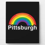 ARCO IRIS DEL ORGULLO DE PITTSBURGH LGBT PLACAS DE MADERA
