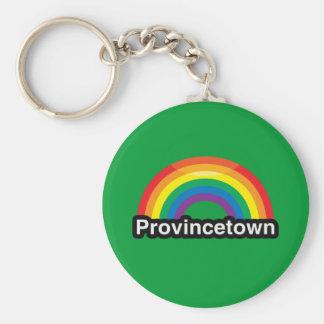 ARCO IRIS DEL ORGULLO DE PROVINCETOWN LGBT LLAVEROS PERSONALIZADOS