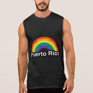 ARCO IRIS DEL ORGULLO DE PUERTO RICO LGBT - .PNG PLAYERA SIN MANGAS