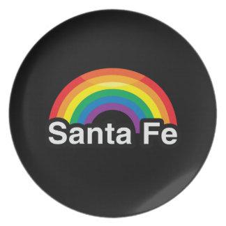 ARCO IRIS DEL ORGULLO DE SANTA FE LGBT PLATO DE COMIDA